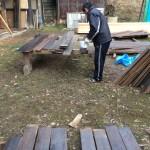 木造校舎再生中